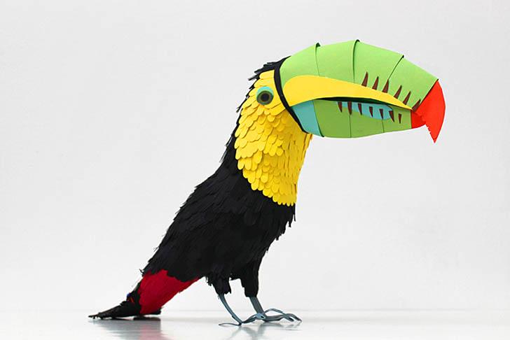 Объёмные птицы своими руками 99
