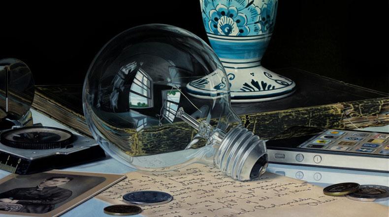 Pinturas de bodegón hiperrealistas de Jason de Graaf
