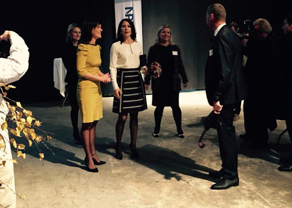 """Crown Princess Mary of Denmark attend the opening of the """"Nordic Summit on Mental Health 2015"""" at the Ministry of Health building"""