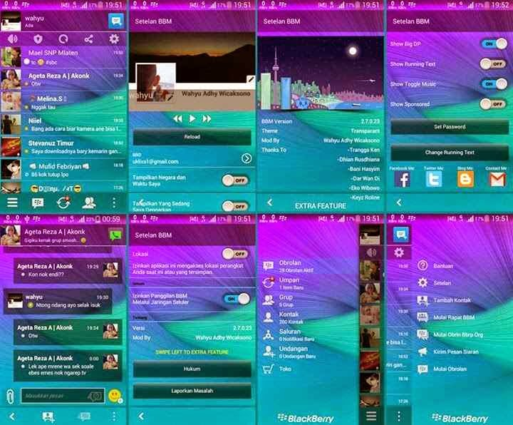BBM Mod Transparan With New Look !