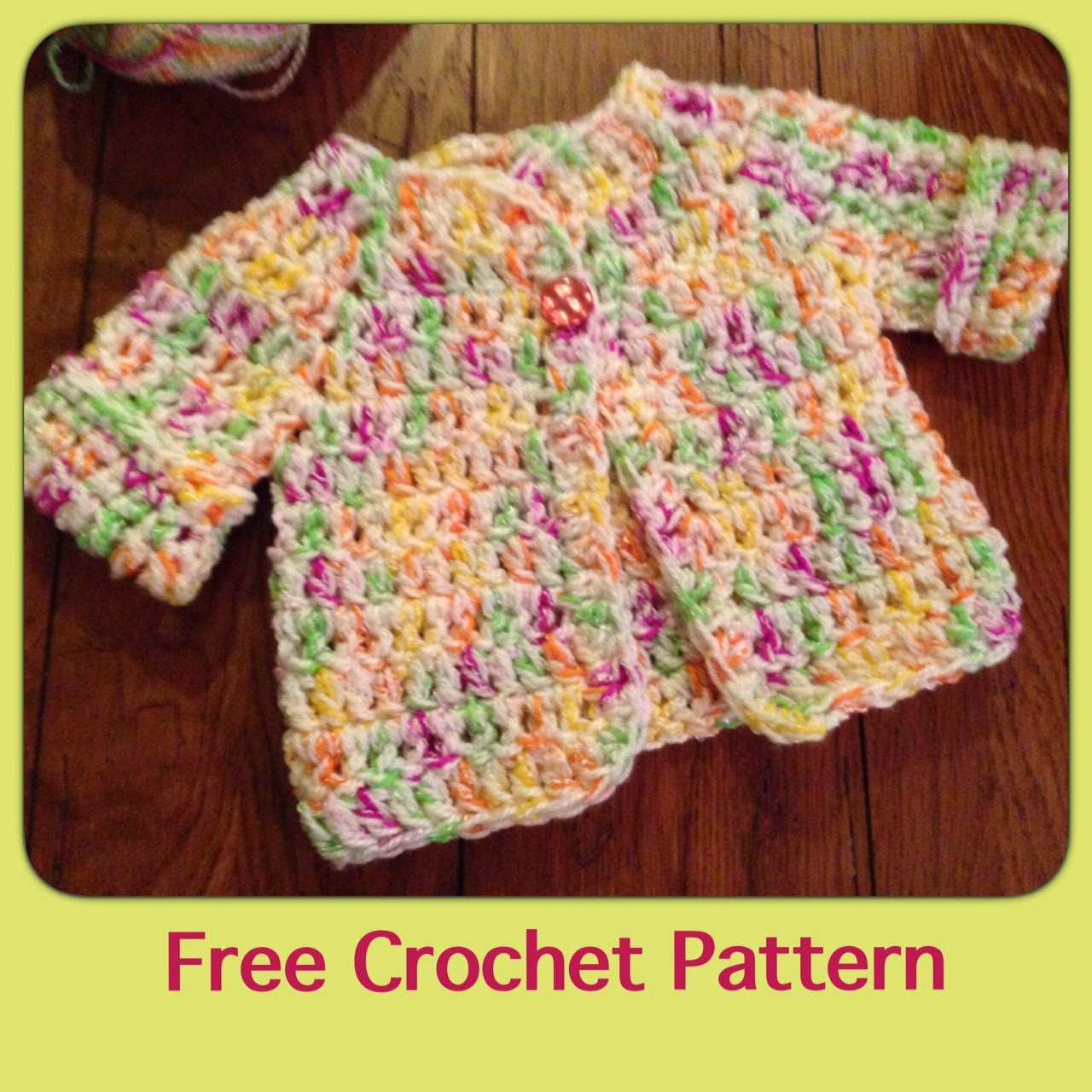 Crochet Baby Pattern Cardigan : Craft Brag: Free Crochet Baby Sweater Pattern