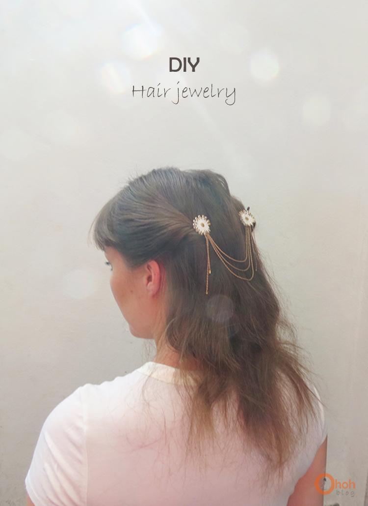 DIY Hair jewelry