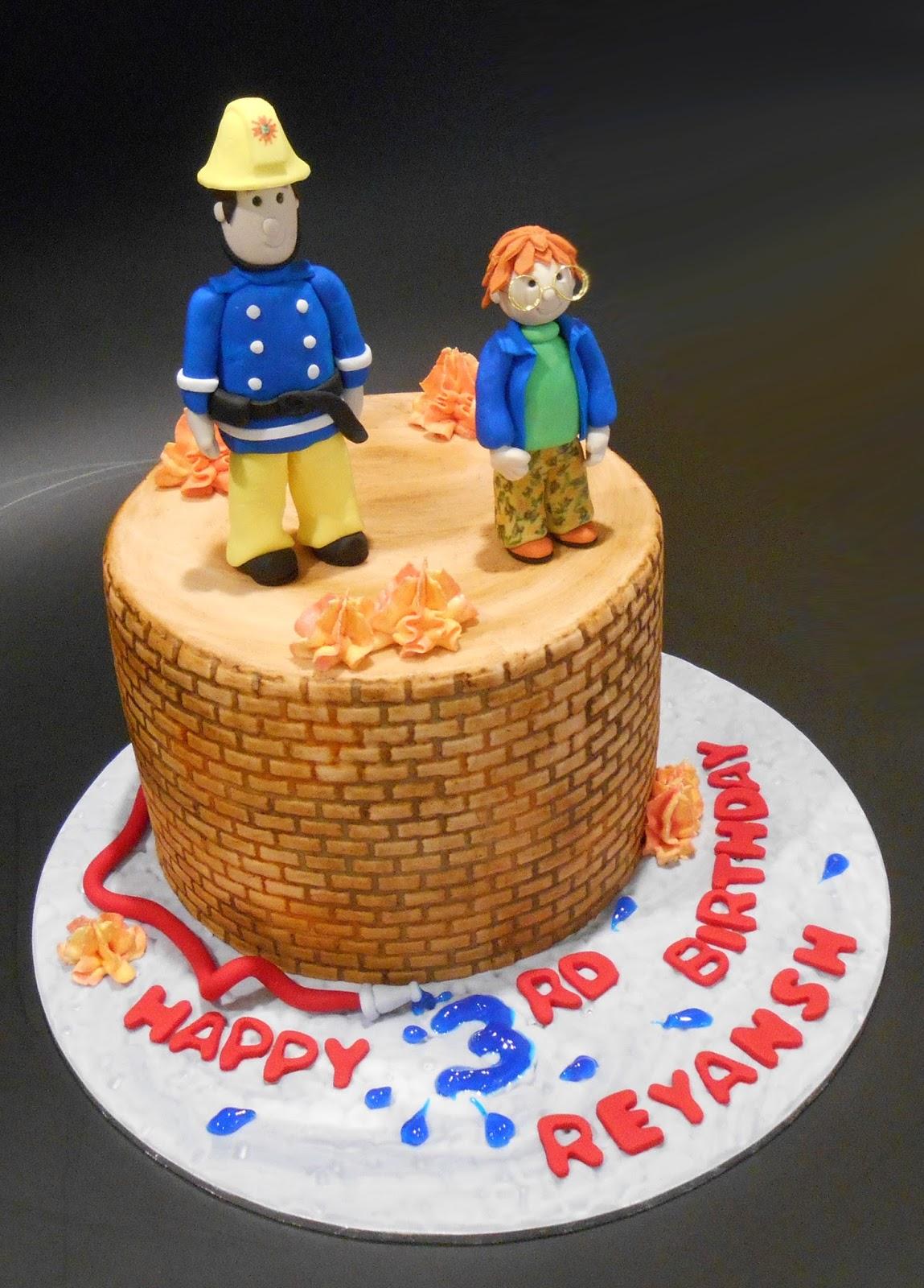 Nadas Cakes Fireman Sam Birthday Cake Fire Cupcakes By Nadas