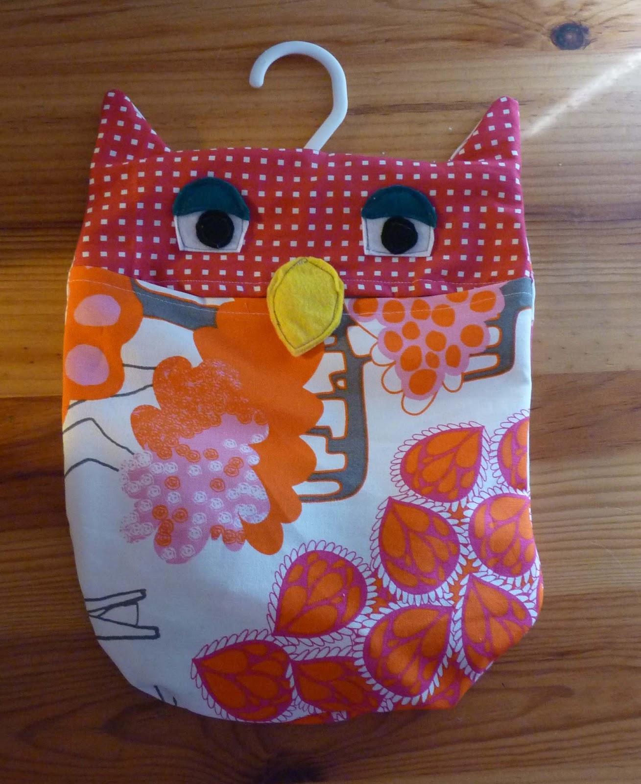 Las cositas de marga bolsa de tela con forma de b ho - Bolsas de tela para ninos ...