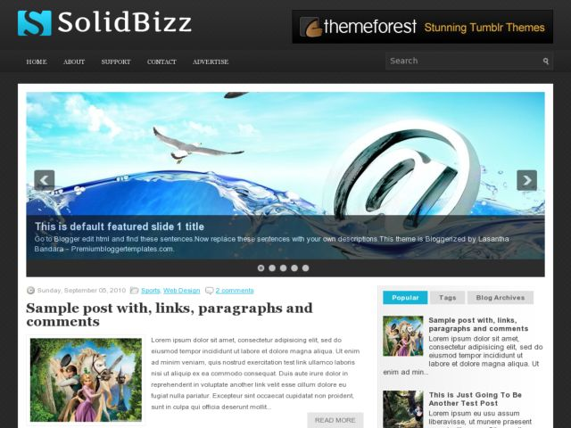 SolidBizz Blogger Template