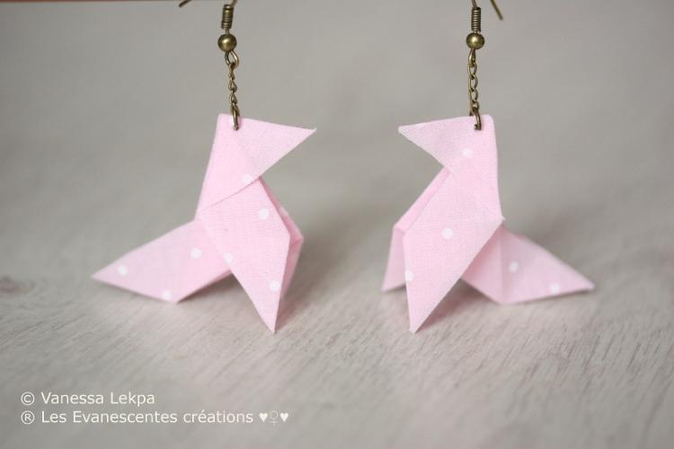 Boucles d'oreilles en origami tuto