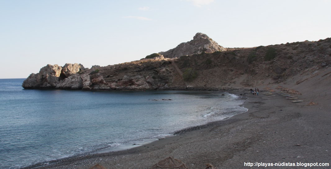 Agios Pavlos (Crete, Greece) First beach (non-nudist)