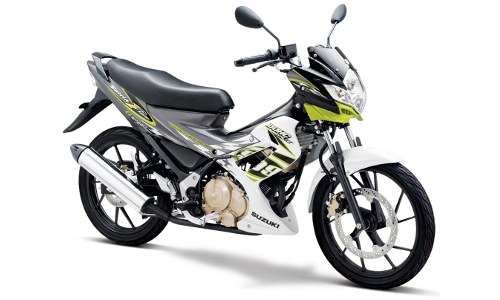 Satria F Terbaru Brilliant White - Pearl Flash Green