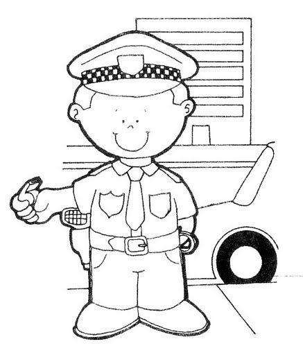 Dibujos para colorear de policias y bomberos - Imagui