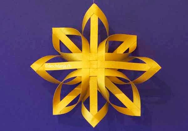 How To Make Christmas Paper Star Kirigami