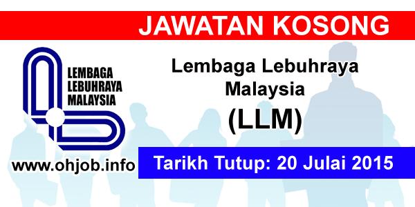 Jawatan Kerja Kosong Lembaga Lebuhraya Malaysia (LLM) logo www.ohjob.info julai 2015