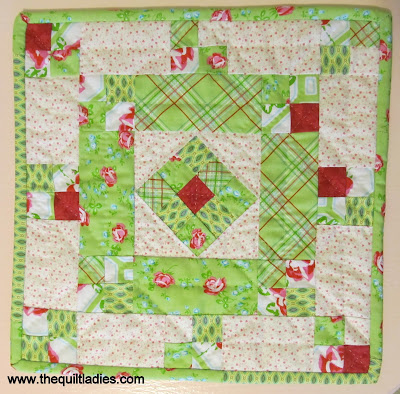 making a quilted table topper pattern