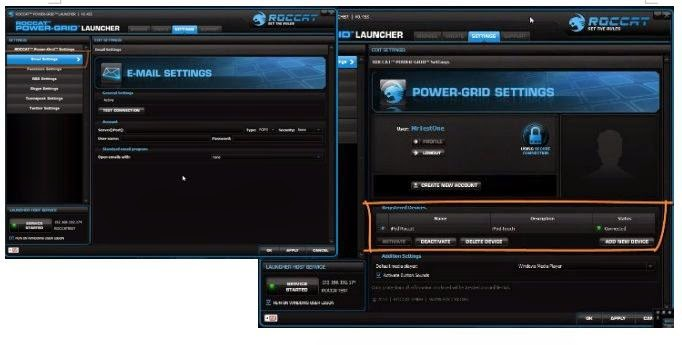 RocCat Power-Grid|Interface
