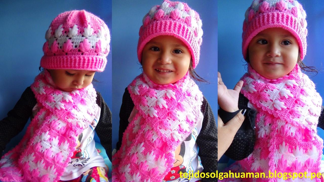 chalina o bufanda para niña tejido a crochet