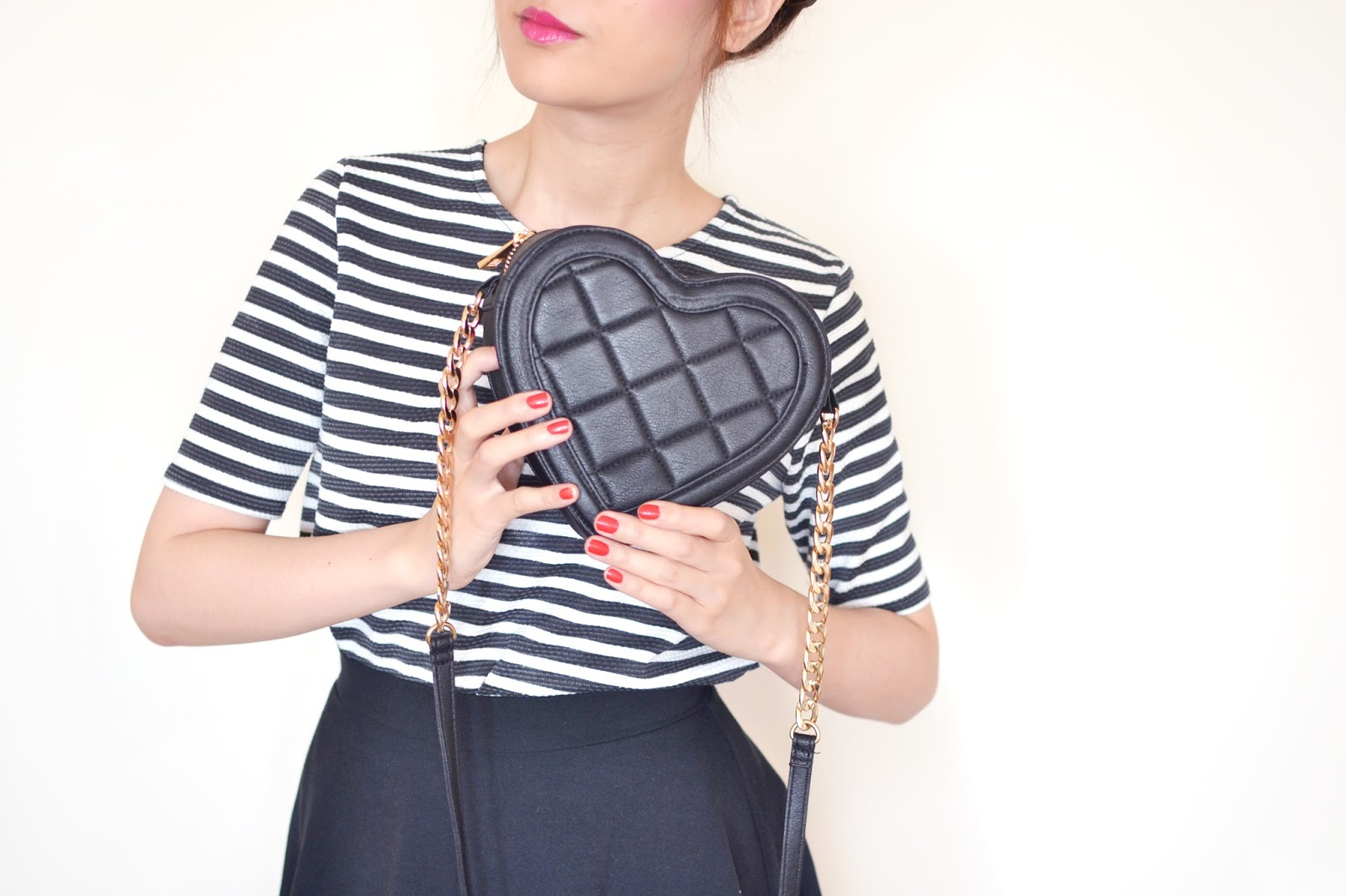 quilted heart bag asos