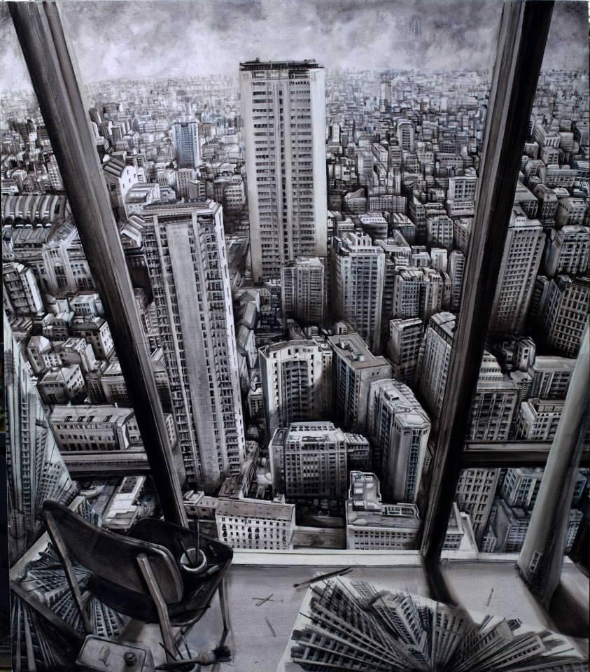 Doctor Ojiplatico. Fabio Giampietro. Paintings. Vertigo. '24h'
