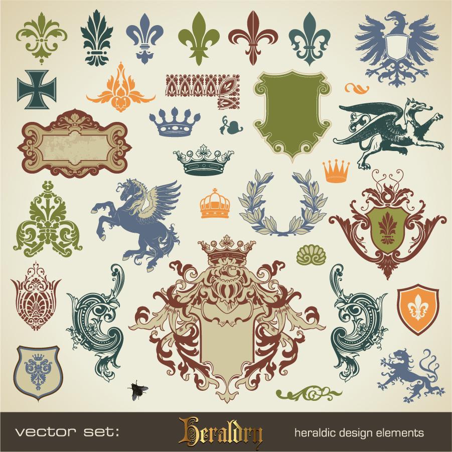 紋章デザインのクリップアート Heraldic Design イラスト素材