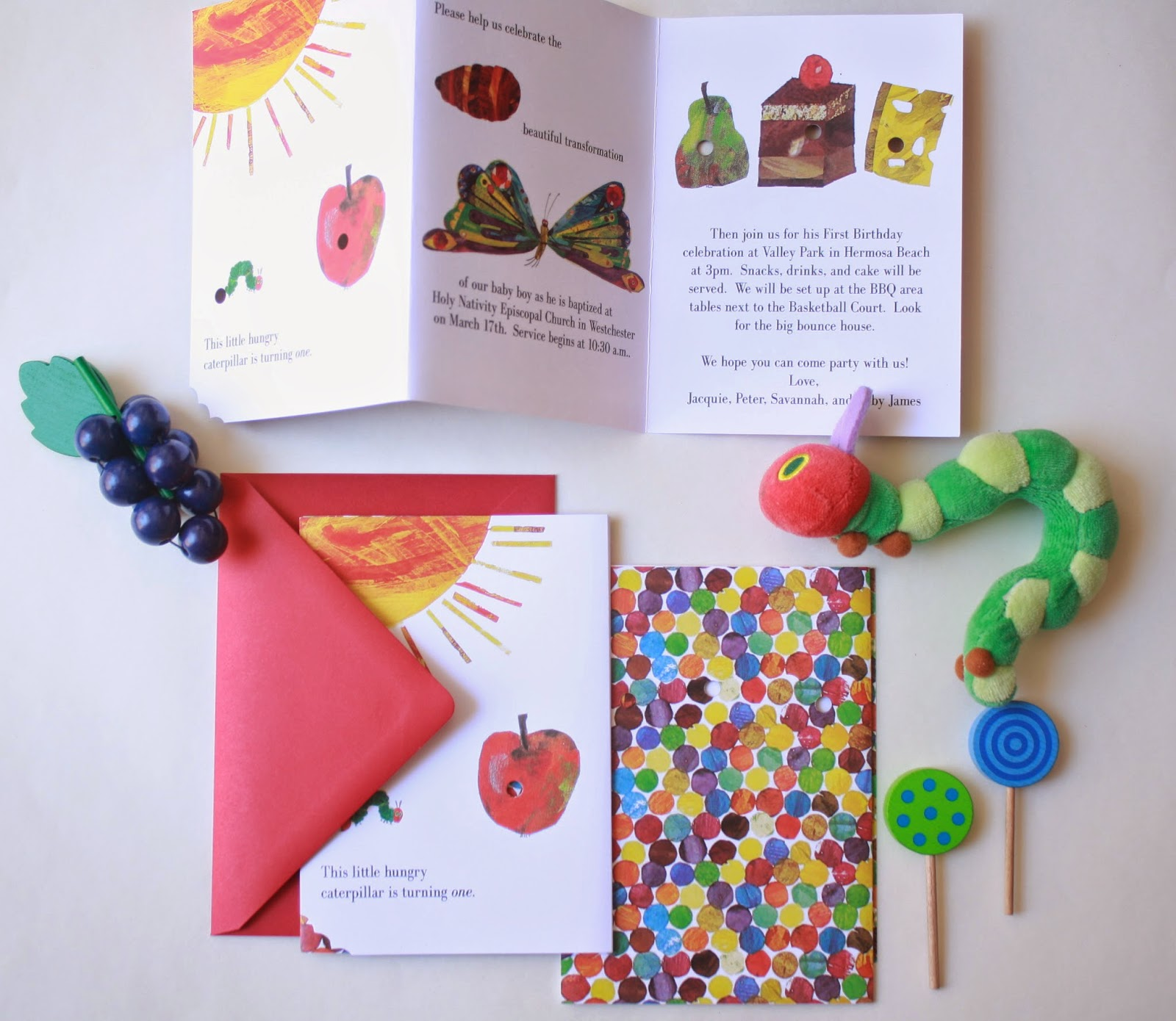 ERICA KEUTER DESIGNS: THE HUNGRY CATERPILLAR BIRTHDAY INVITATION