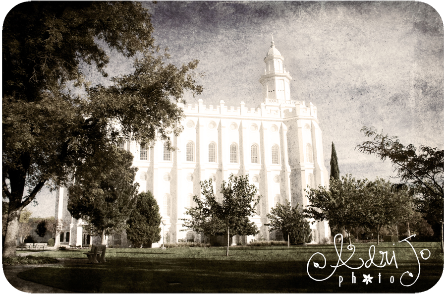 Antique Prints of the LDS Temple - St. George Utah