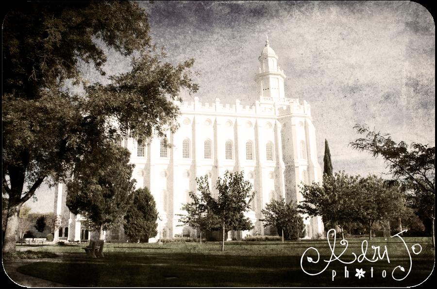 Antique Prints of the LDS Temple - St. George Utah