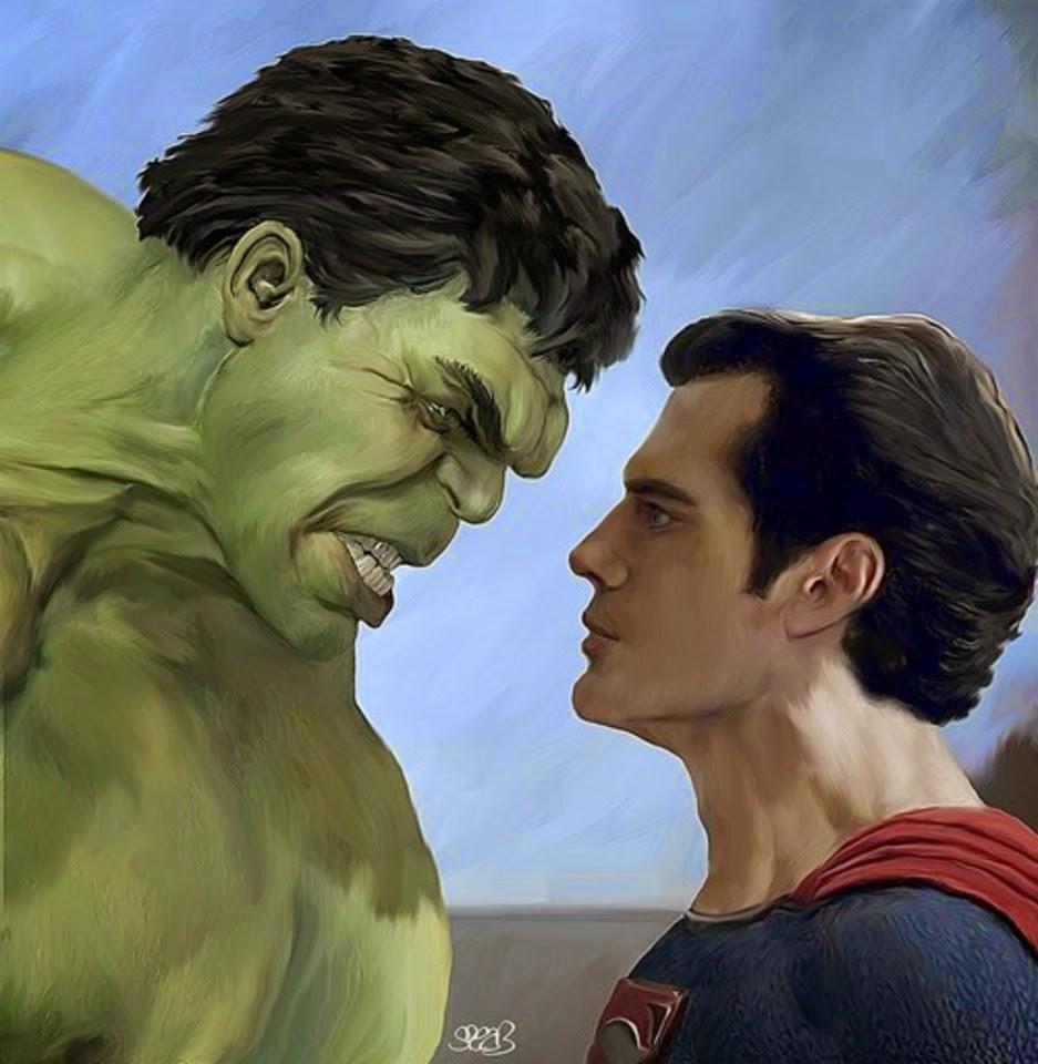 hulk, superman