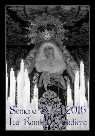 """III Cartel anunciador de Semana Santa de """"La Rambla Cofadiera"""" 2016"""