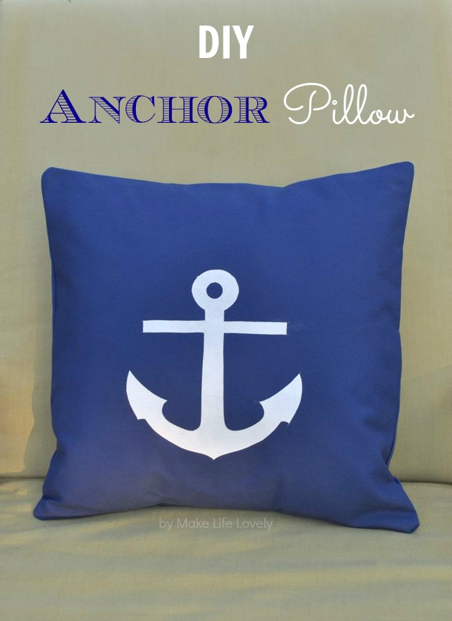 photo relating to Printable Anchor Stencil called Do-it-yourself Anchor Pillow + Absolutely free Printable - Generate Daily life Stunning