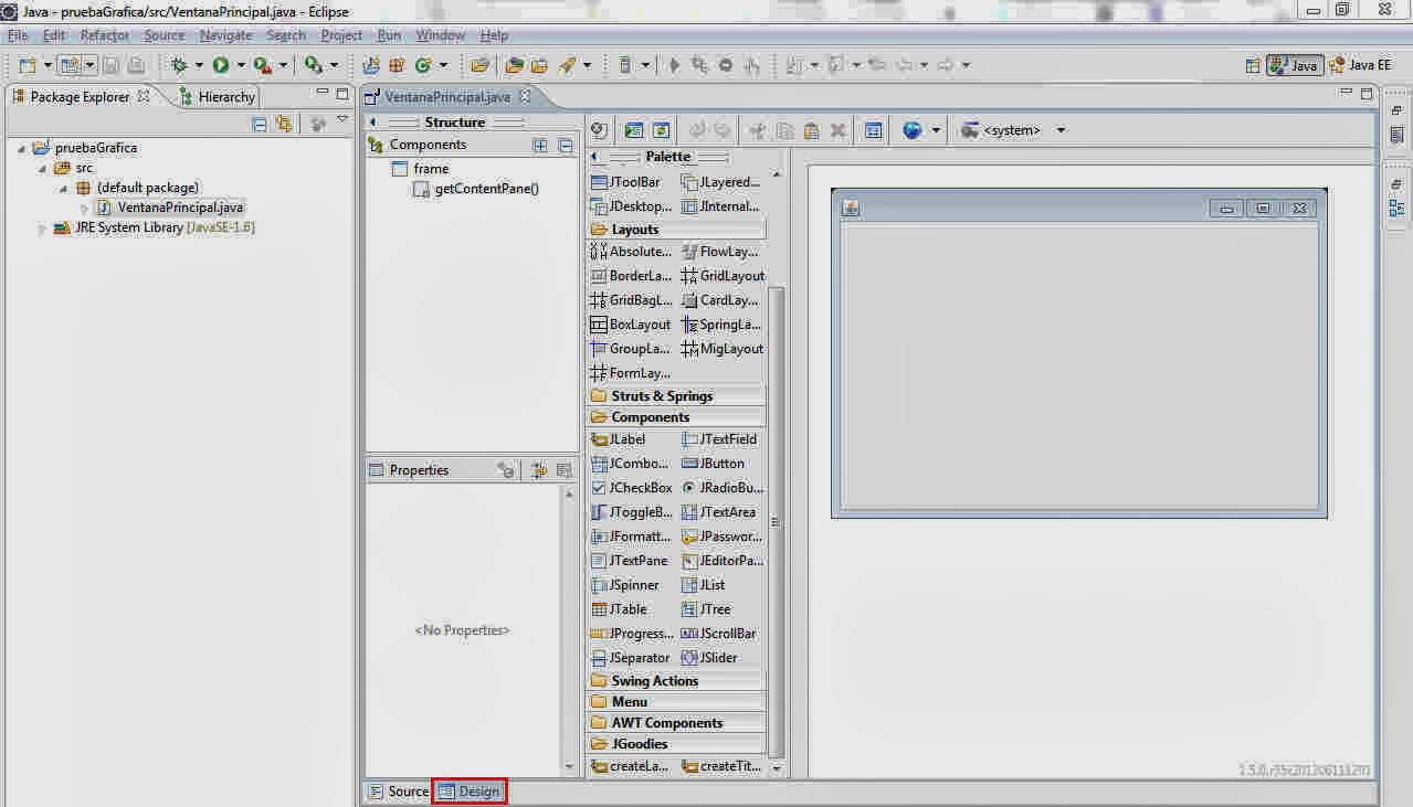 CoDejaVu: Como crear Interfaces Graficas en Eclipse con WindowBuilder