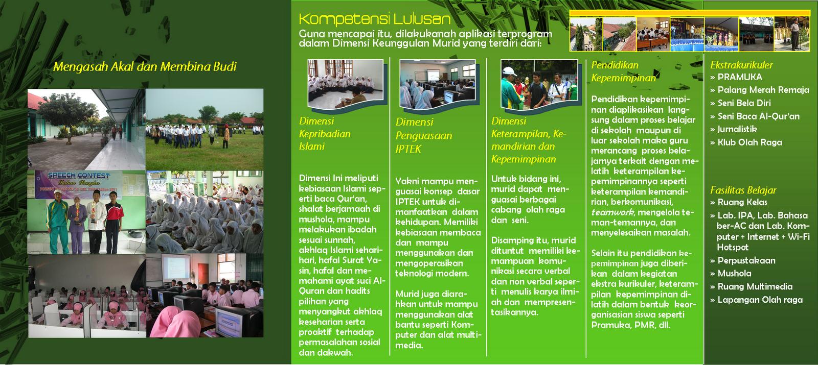 Contoh Brosur MTS Madrasah Tsanawiah