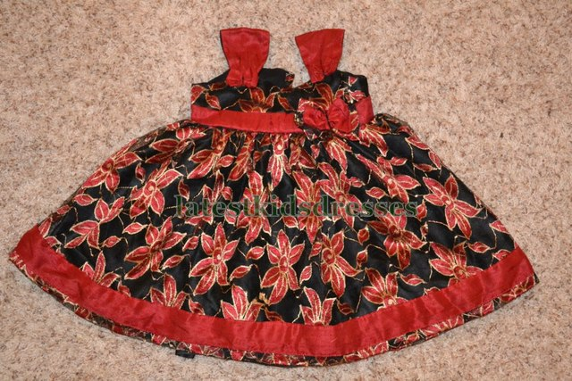Black and Red Kids Frock