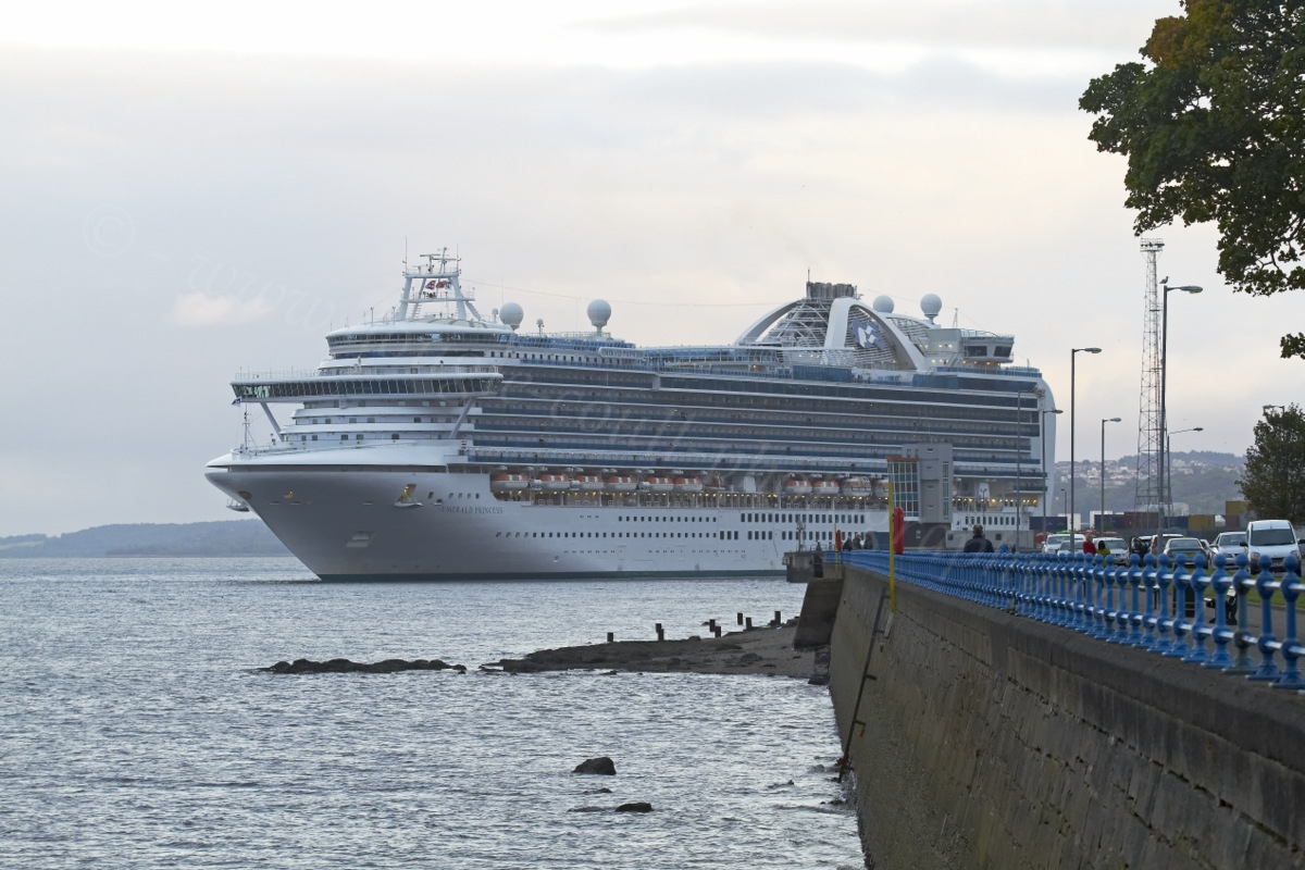 Dougie Coull Photography Emerald Princess Departs Greenock
