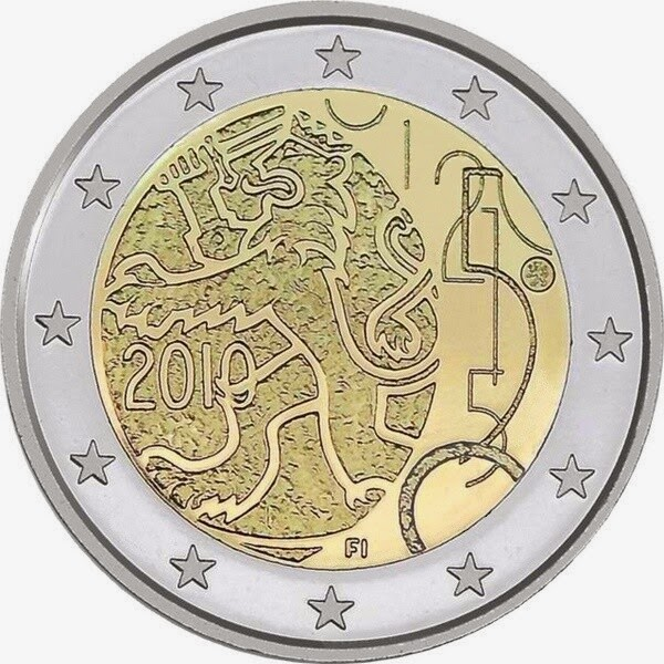 2 Euro Commemorative Coins Finland 150th Anniversary of the Finnish Currency