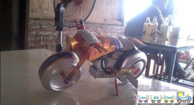 xe đồ chơi từ lon bia