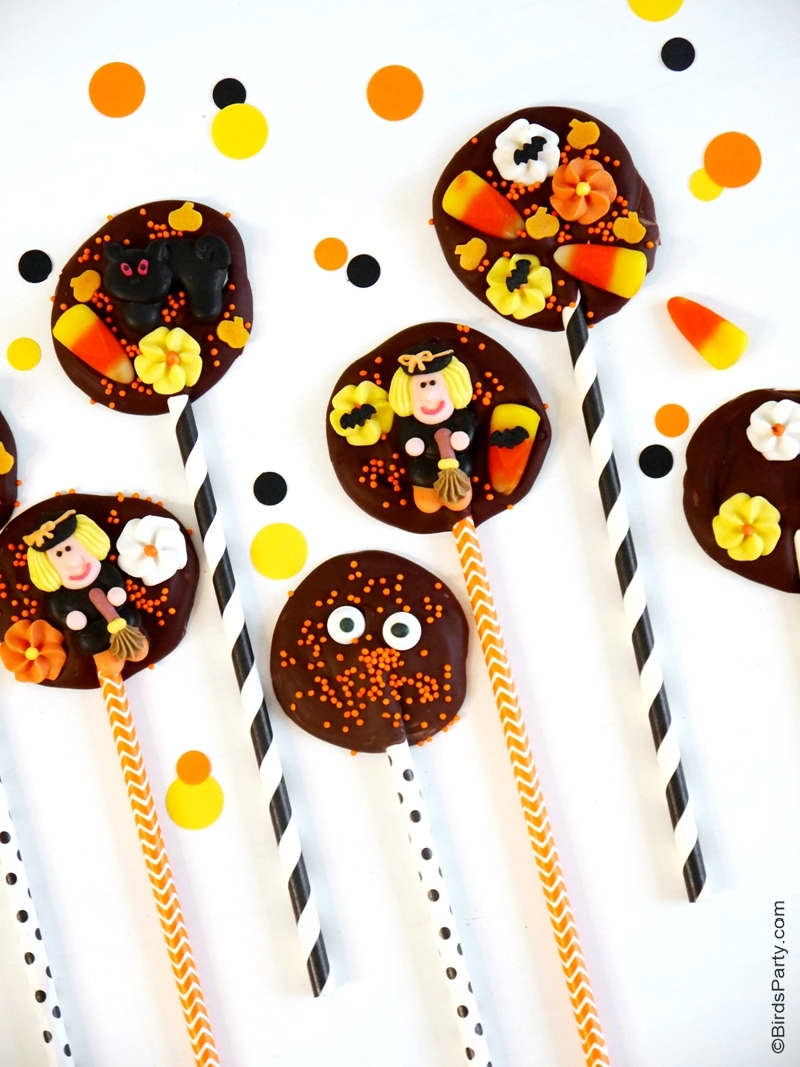 Recette: Sucettes Chocolate Bark Pour Halloween