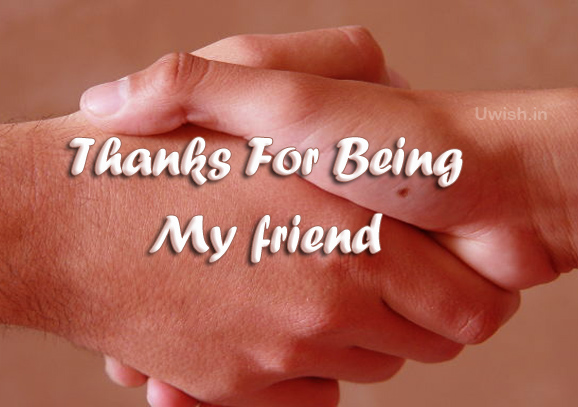 Thanks for being my friends e greeting cards and wishes