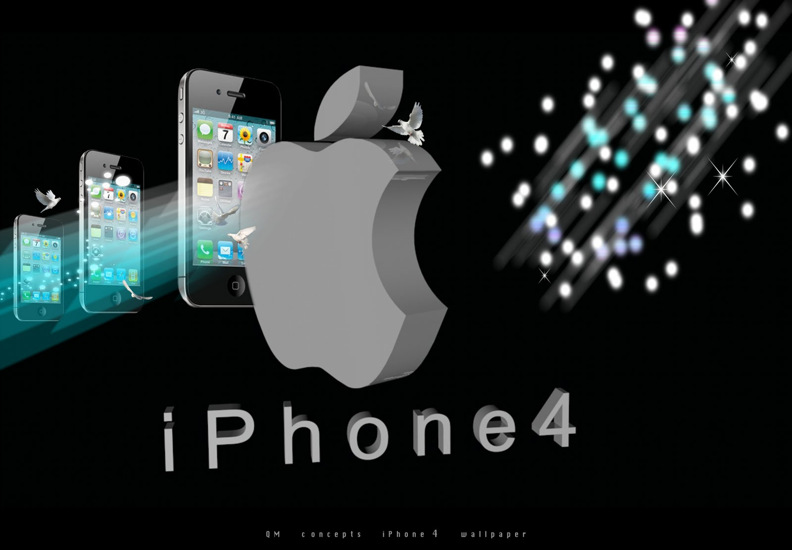 3D iPhone 4 wallpapers. | QM concepts ™