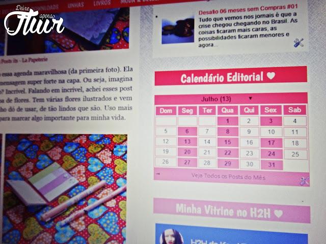 Tutorial em HTML - Arquivo de Blog em forma de Calendário