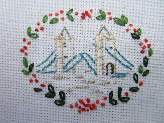 Norman Hartnell Tower Bridge embroidery pattern
