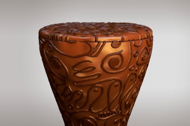 Шоколадный унитаз Maderno