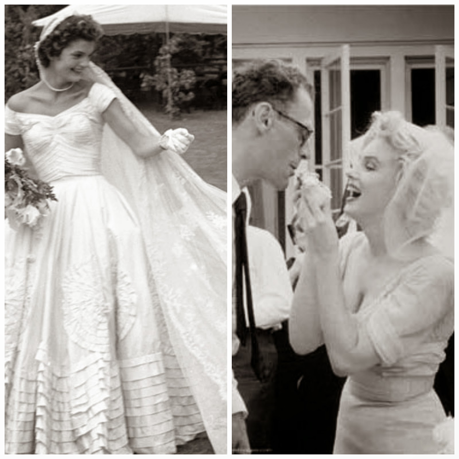 Jackie Kennedy and Marilyn Monroe Wedding Dresses - Affordable 1950s Wedding Dresses