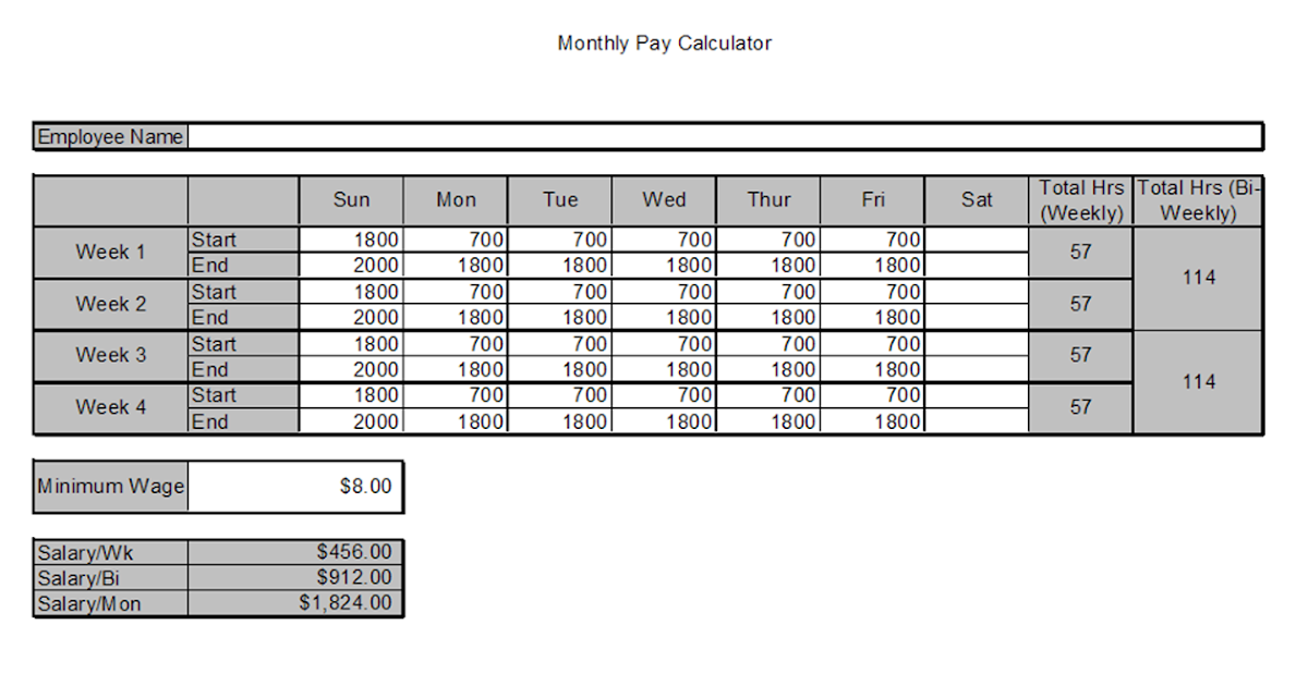 files monthly pay calculator