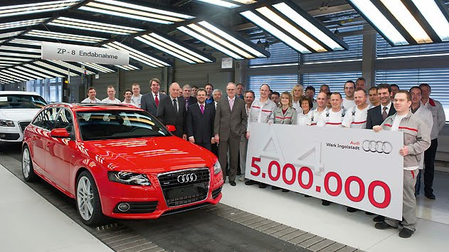 Audi A4 Avant 2011. Five-million Audi A4 leaves