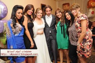 صور الفنانين في خطوبة الفنانة نرمين زعزع وأحمد البديهي