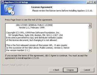 Cara Install AppServ 2.5.10