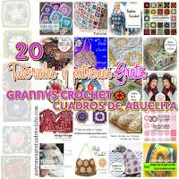 20 tutoriales de tejidos con grannys crochet