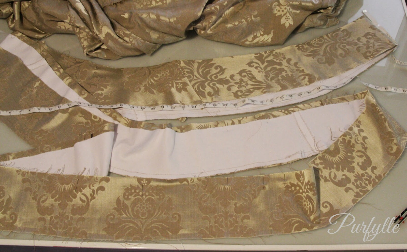 hem facing with canvas interlining