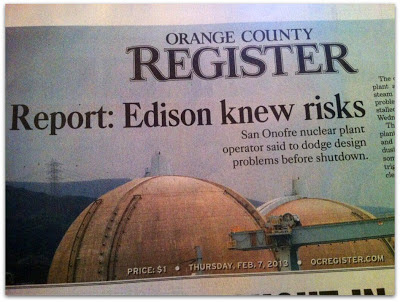SAN ONOFRE: Did Edison submit false information to NRC?
