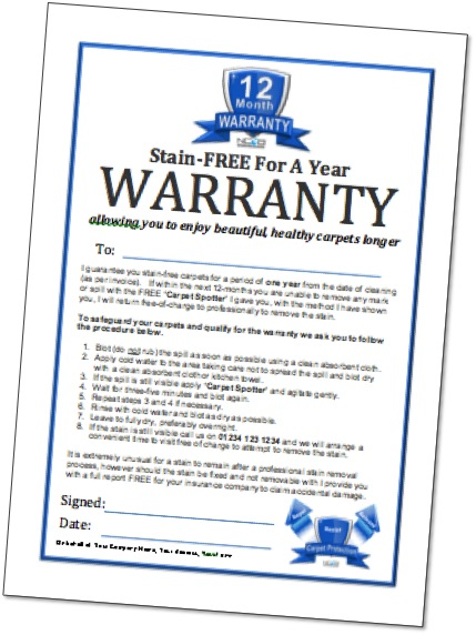 Warranty Certificate Format For Equipment Image Gallery  Hcpr