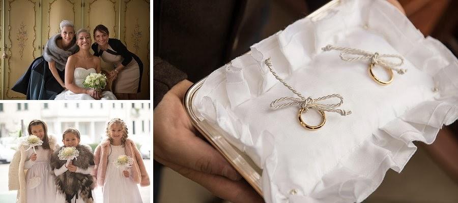 La sposa, le damigelle, gli anelli