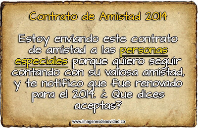 Imagen: Contrato de amistad para 2014